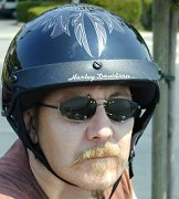 Nick in his Harley Helmet