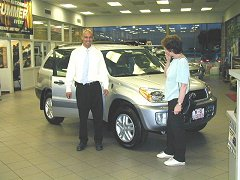 Rav4 purchase in the showroom