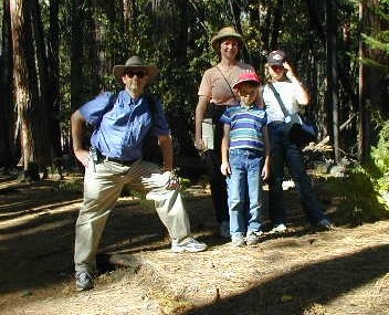 Family in Yosemite Forest