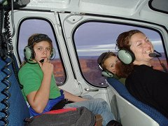 Inside the Chopper flying through the Grand Canyon