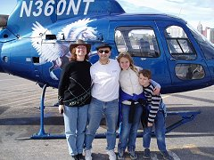 Family at the Chopper on Vegas Airport