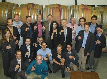 RMS team in Unti Winery