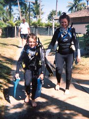Henry and Helen in Scuba gear