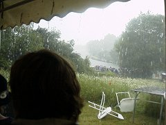 What the bloody rain looked like from the Marquee