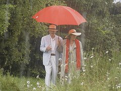 David & Tina Crowther with Red Umbrella