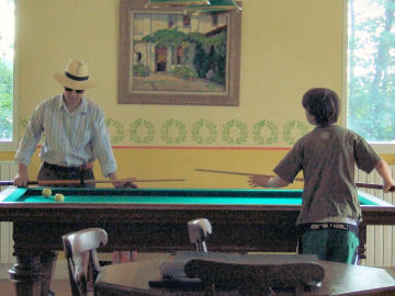 Andrew & Henry play French billiards