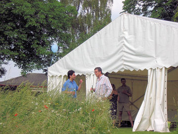 Hemant and Robert by the Marquee