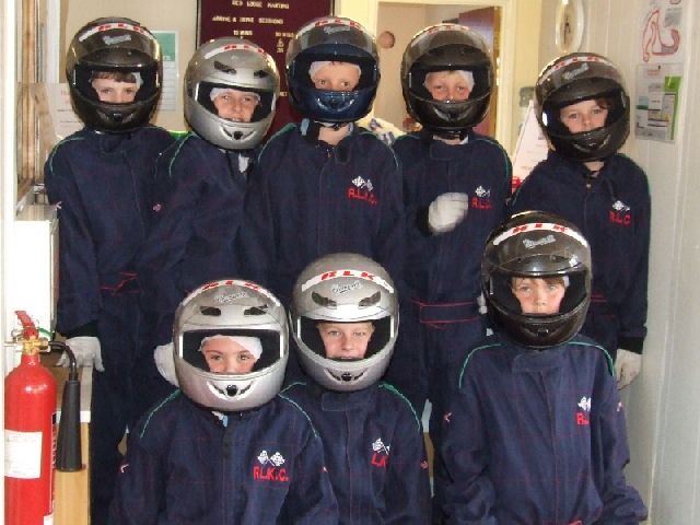 Go Karting Team assembled for the safety briefing