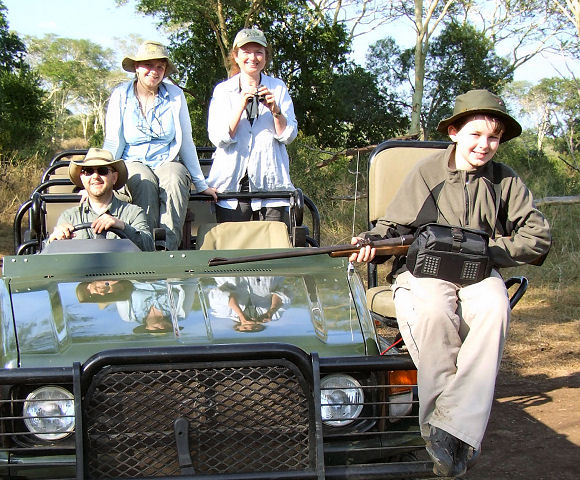 Four intrepid hunters set out on their safari