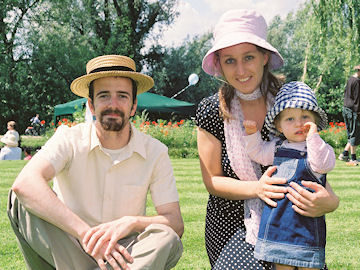 Adam and Isobel Dyer with Lucy