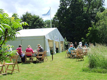 Lunching by the marquee
