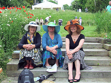 Jean, Hazel and Helen under their brims