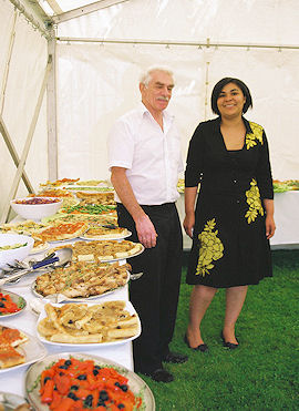 Catering was by Muriel Ambourhouet & Jonathan Harris of lemonthyme