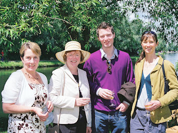 Maria Sylvester, Janet Owers, Nick Owers and Hannah Carter