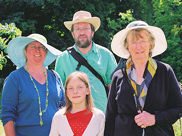 Hazel, Roger and Anoushka Barber, and Jean Fisher