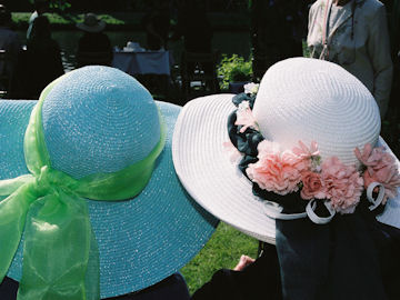 Hazel's and Jean's hats