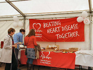 British Heart Foundation Themed Marquee