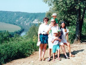 Family on Dordogne 1997