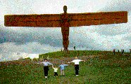 Family life imitates art with the Angel of the North