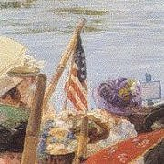 Stars & Stripes in the 1906 Bumps painting